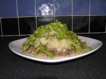 Creamy Mushroom Ragout with Nutmeg Mash