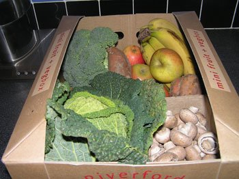 Organic vegetable box delivery 29 January 2009