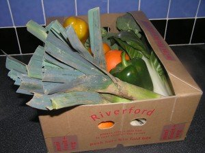 Organic vegetable box 12 February 2009