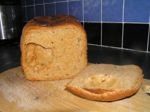 Cheddar, sun-dried tomato and olive bread