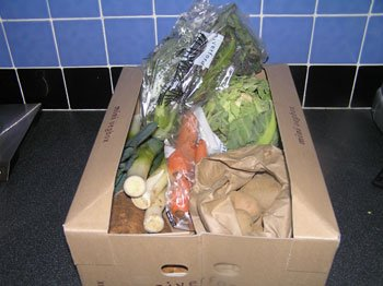 Organic vegetable box delivery 5 February 2009