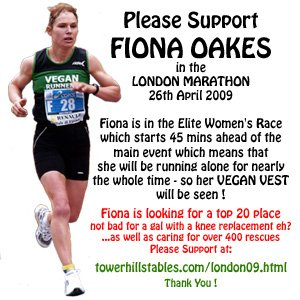 Fiona is running the London Marathon this year