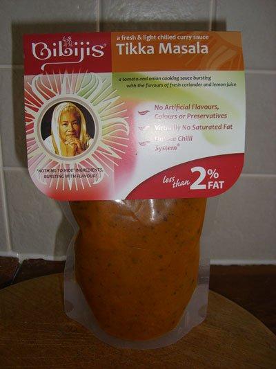 Bibijis Tikka Masala packaging