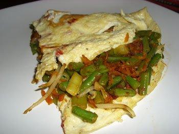 Thai vegetable omelette