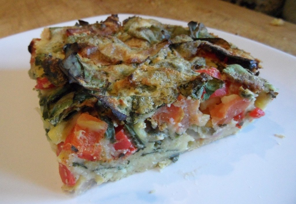 Mexican Vegan Crustless Quiche