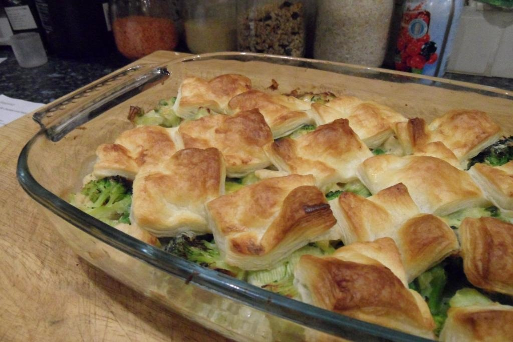 Quorn Chicken And Leek Patchwork Pie Side