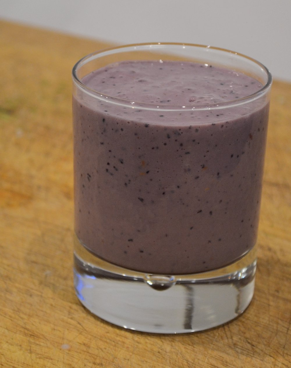 Blueberry, blackberry and raspberry smoothie