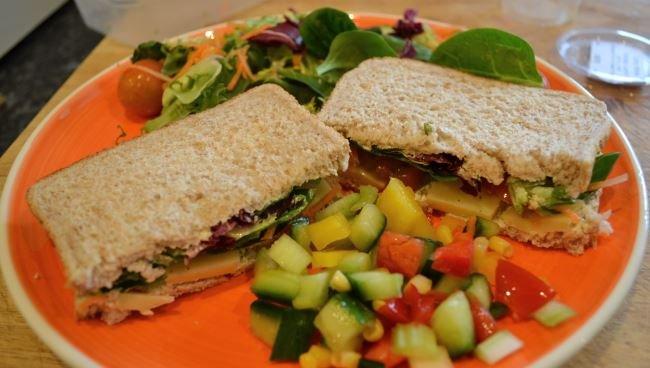 Bodychef cheese sandwich