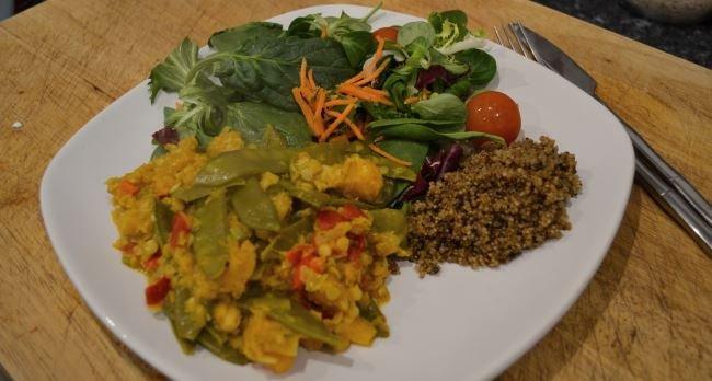 Crispy quinoa is surprisingly nice