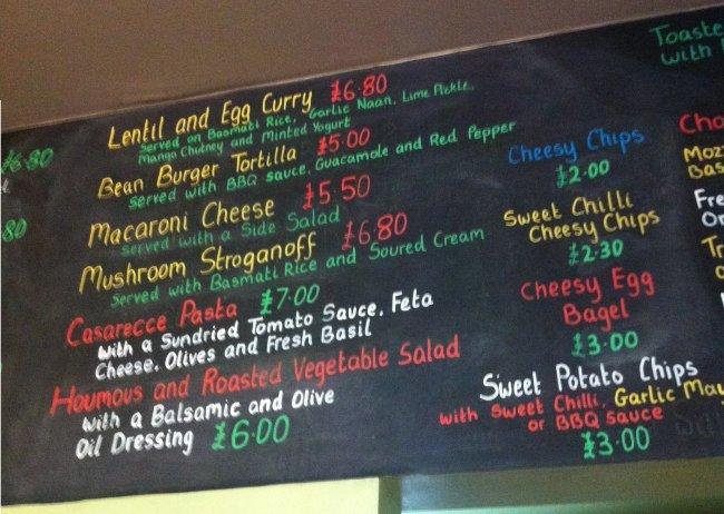 Beano's vegetarian cafe bar, Folkestone, Kent