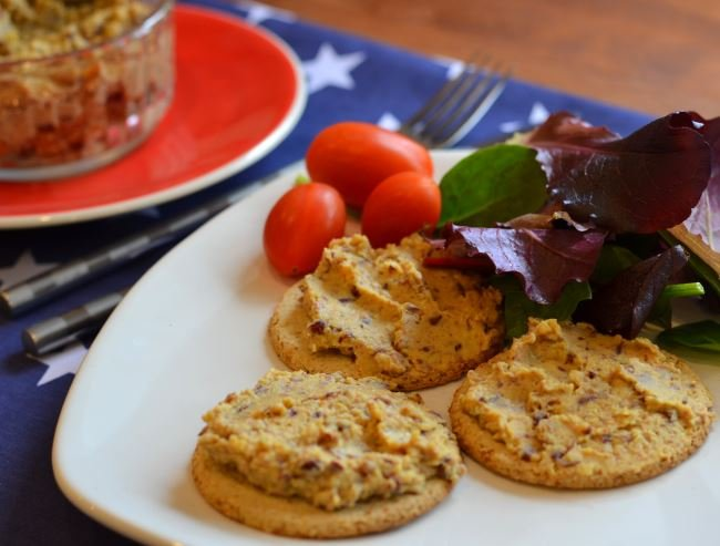 Curried kidney bean and chickpea pate