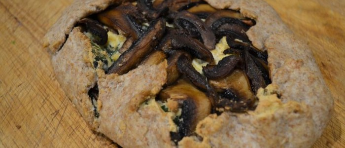 Spinach and mushroom galette from Greens 24/7 by Jessica Nadel