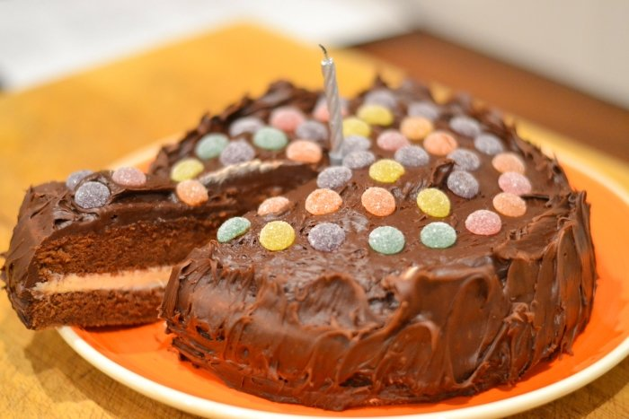 Jelly Tots Chocolate Cake