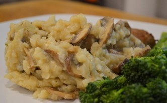 Slow cooked vegetarian mushroom risotto