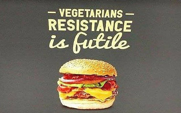 Gourmet Burger Kitchen advert offensive to vegetarians and vegans