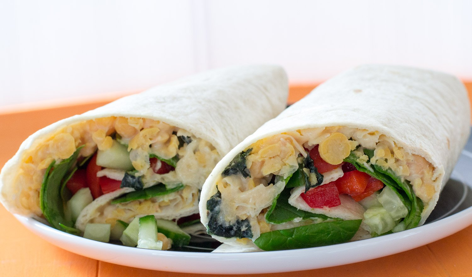 Vegan chickpea tuna mayo wrap