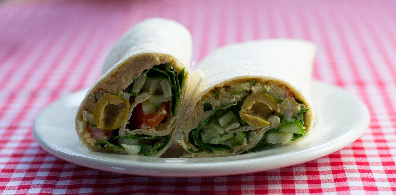 Vegan salad wrap