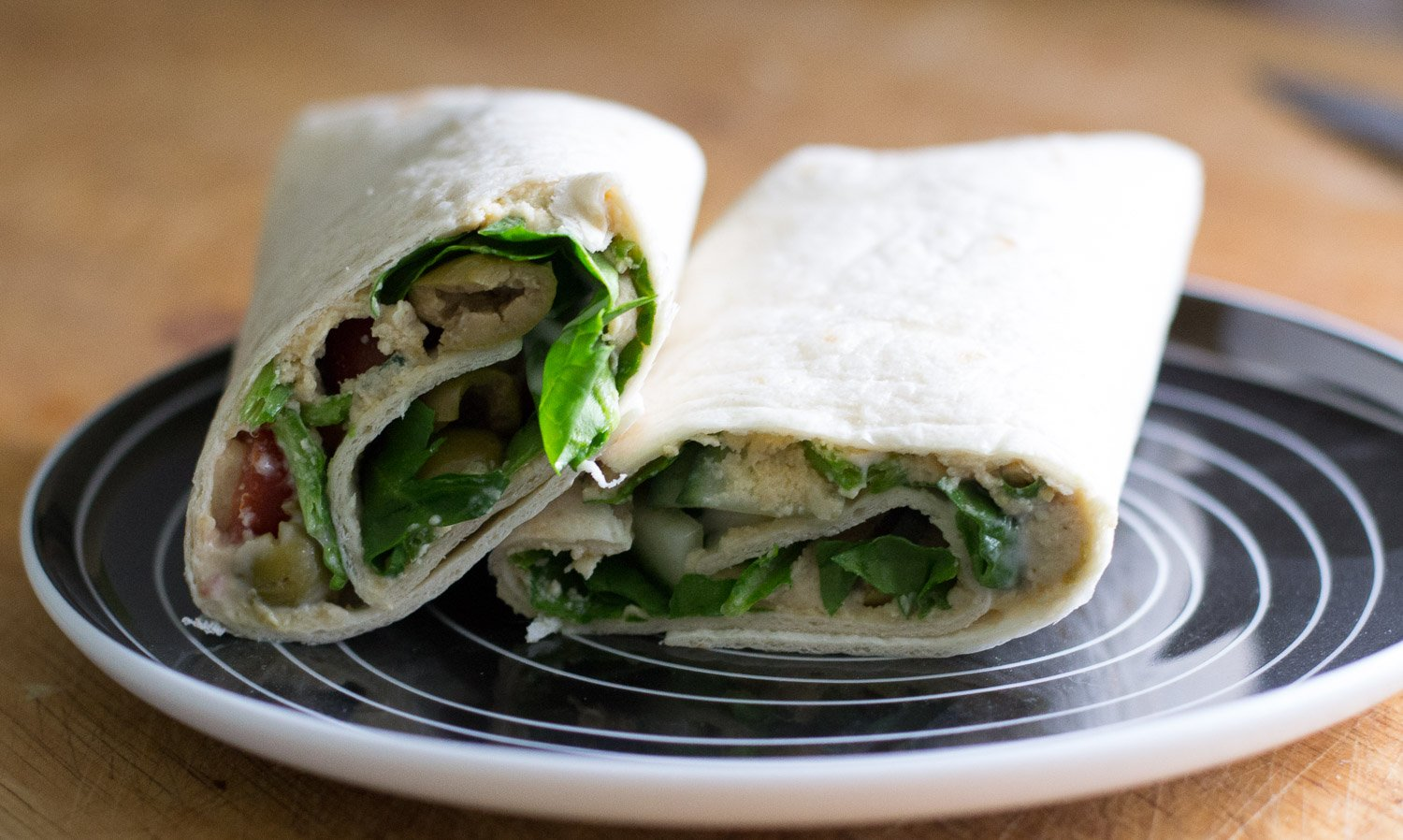 Vegan salad wrap