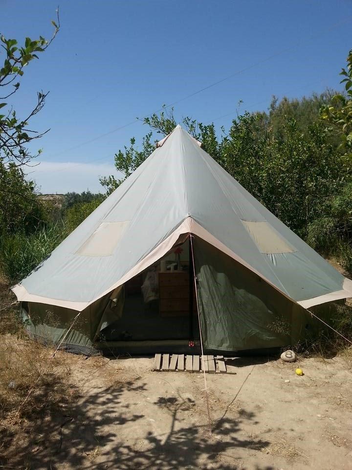 A tent at Jacob's Ridge (Pig Village)