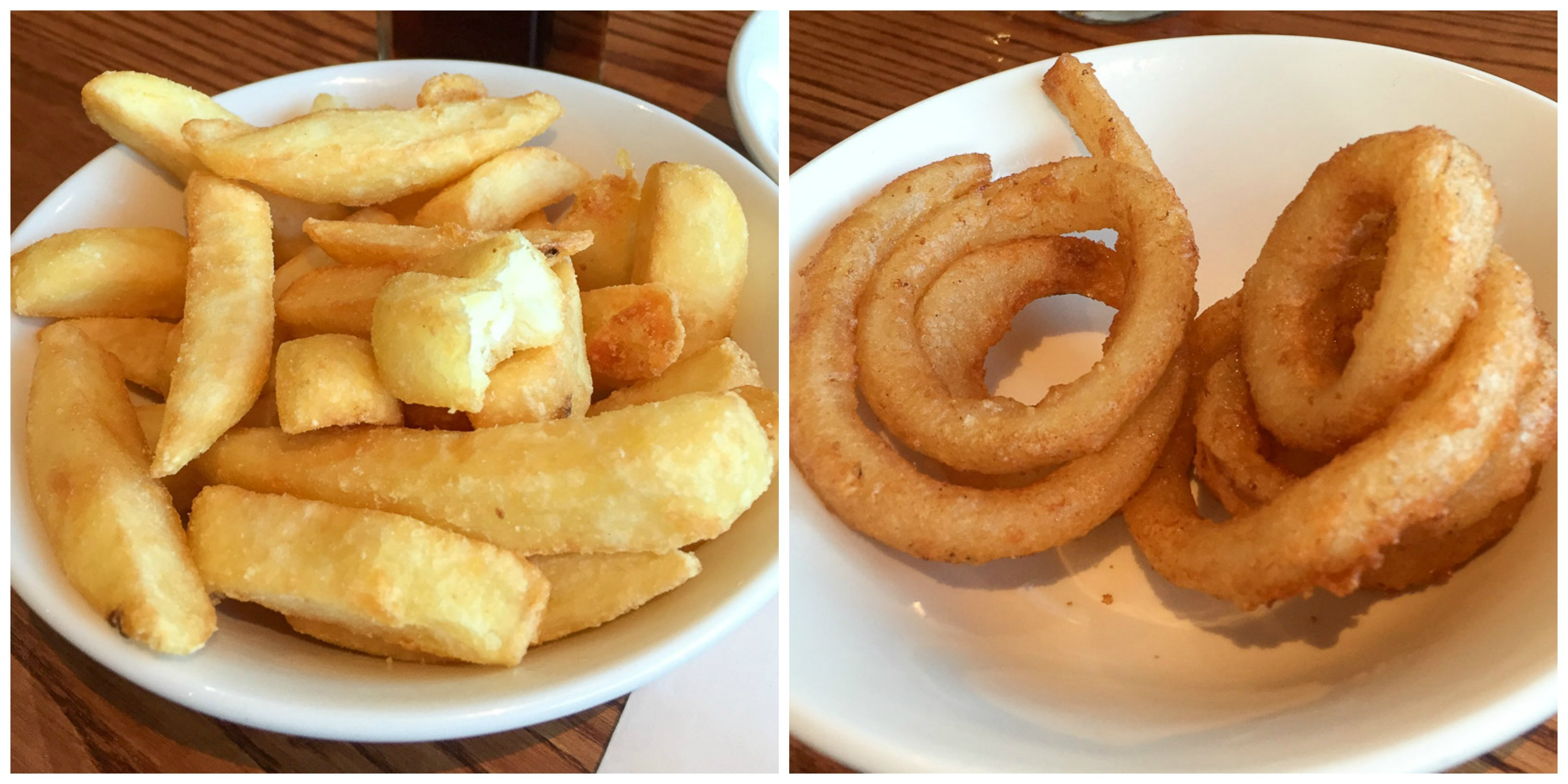 Beefeater chips and onion rings
