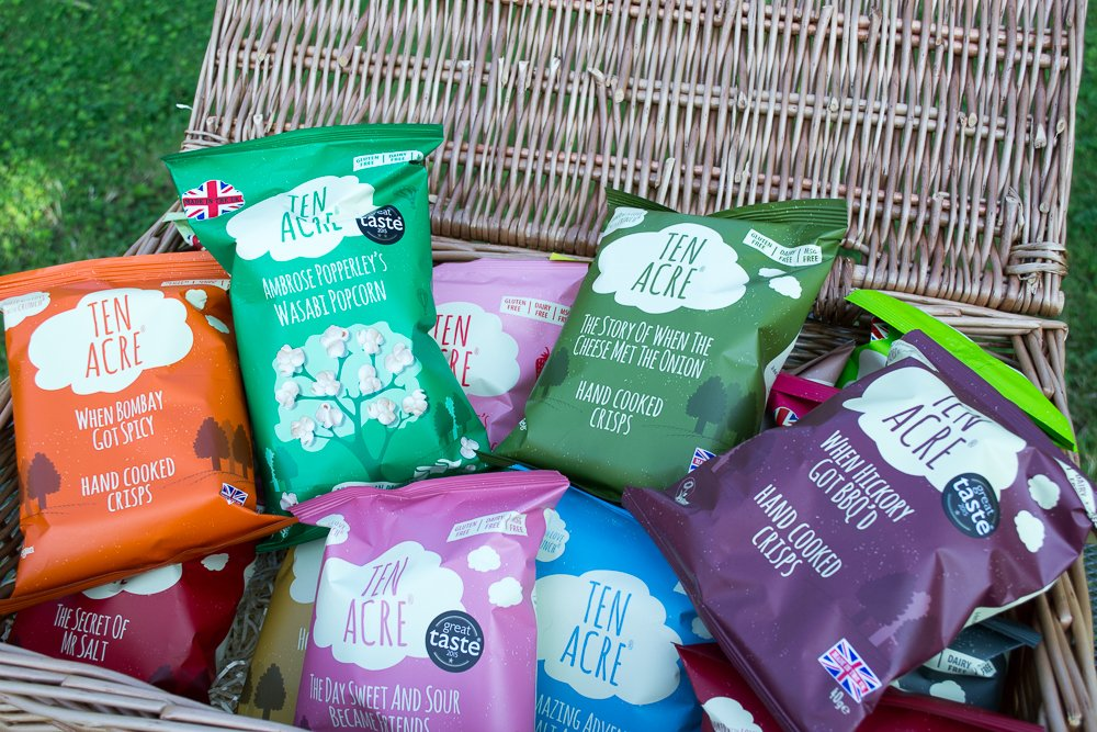 Win a hamper of Ten Acre Crisps and Popcorn