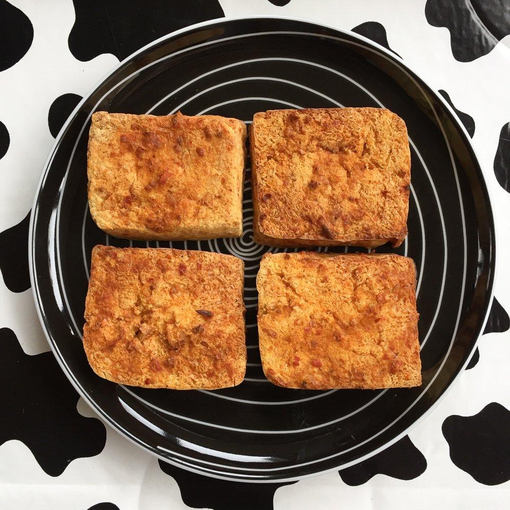 Crispy airfried tofu