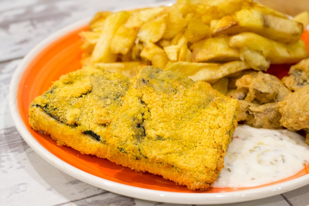 Breaded air fried tofish