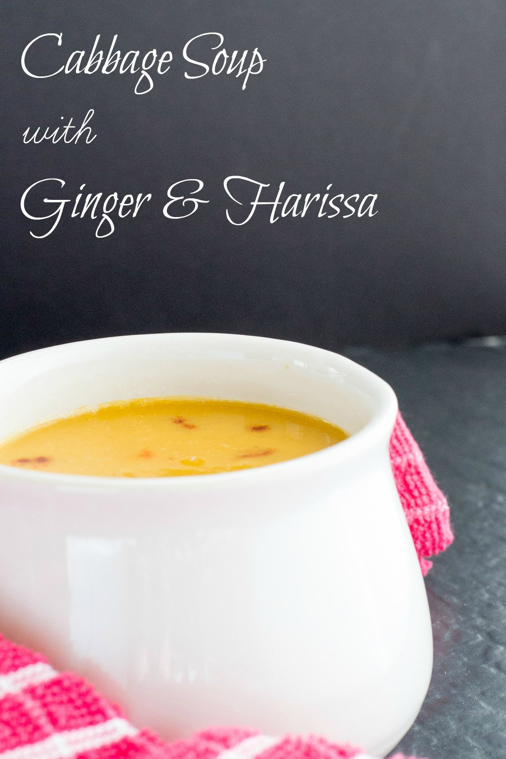 Cabbage soup with harissa and ginger - vegan