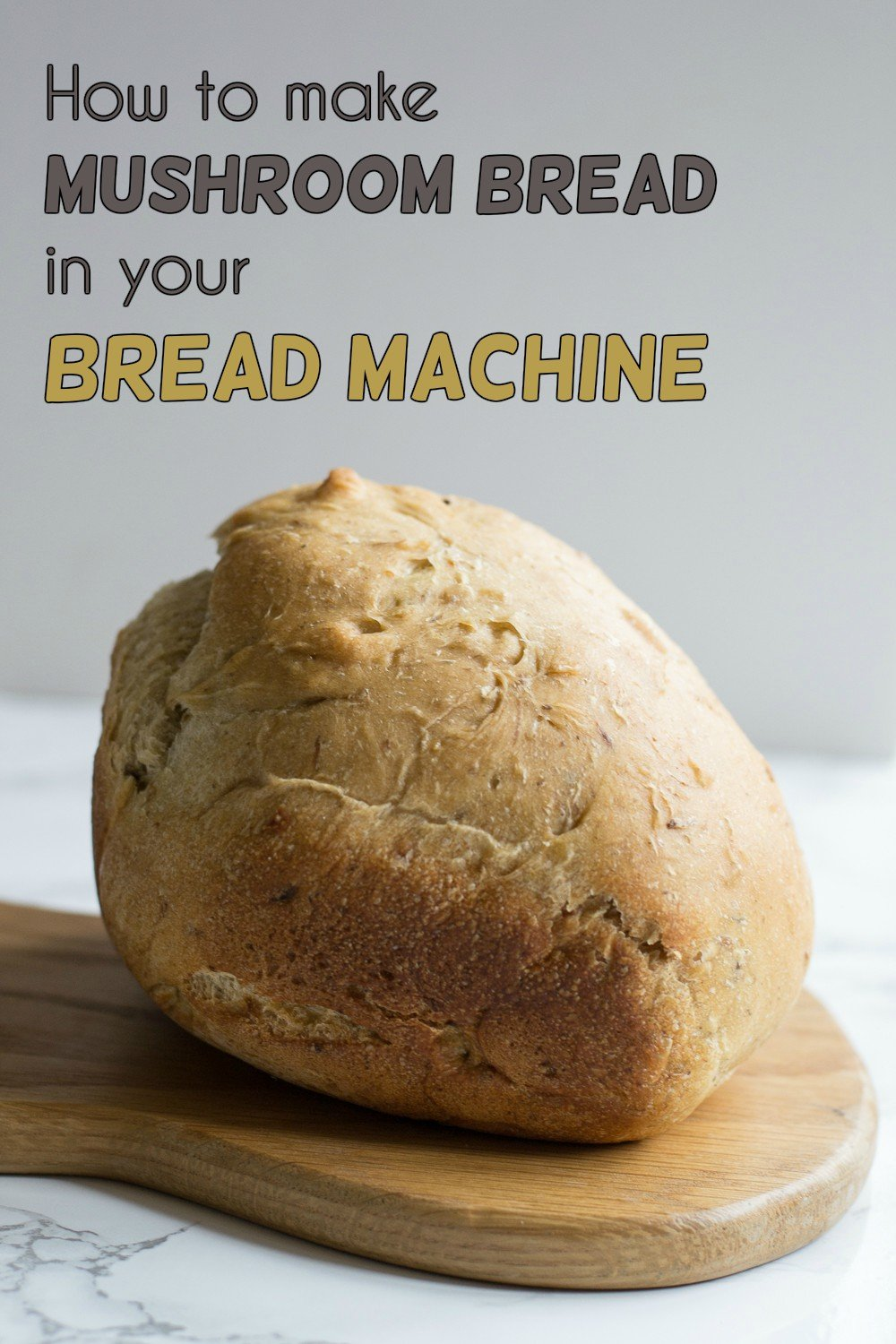 bread machine mushroom bread