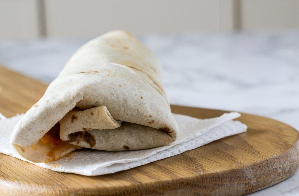 vegan air fried wrap