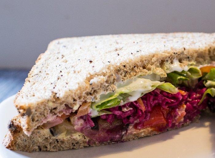 vegan rainbow sandwich