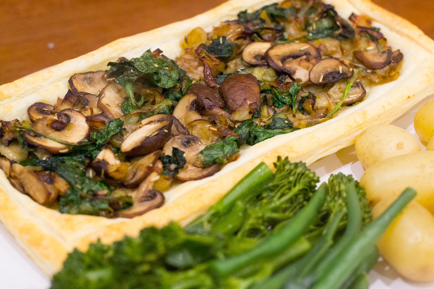 Veganuary: Vegan Leek, Mushroom and Spinach Tart