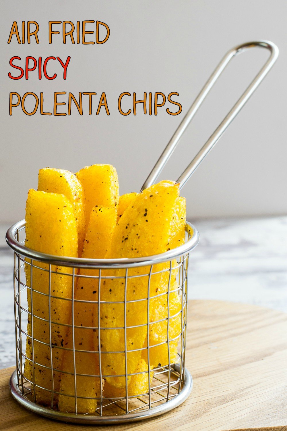 Air Fried Spicy Polenta Chips in the Optimum HealthyFry Air Fryer