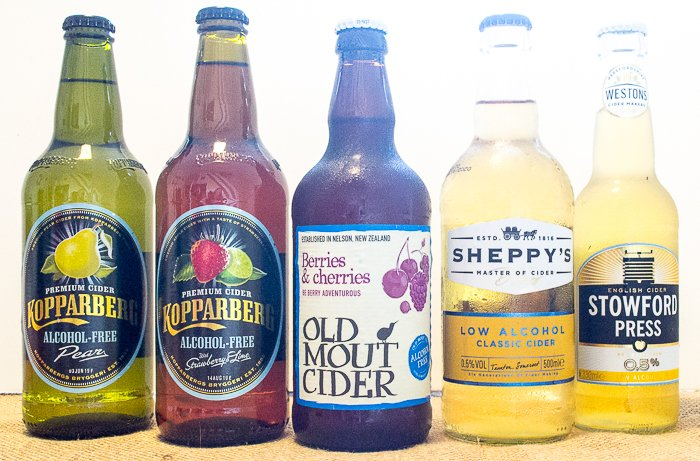 low alcohol and alcohol free cider