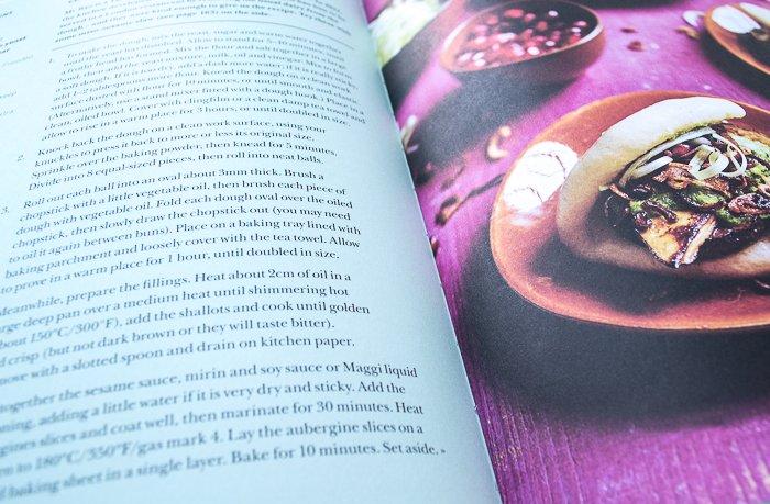 Inside page of Leon Fast Vegan cookbook