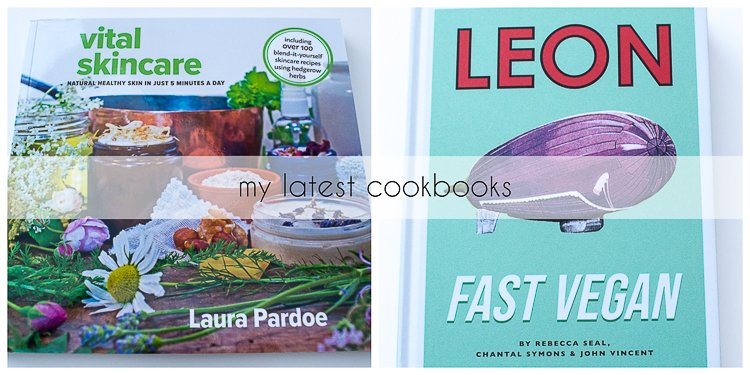 Photo of Leon Fast Vegan and Vital Skincare cookbooks