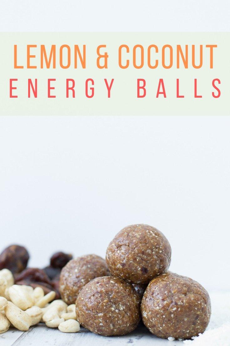 vegan lemon and coconut energy balls pinterest pic