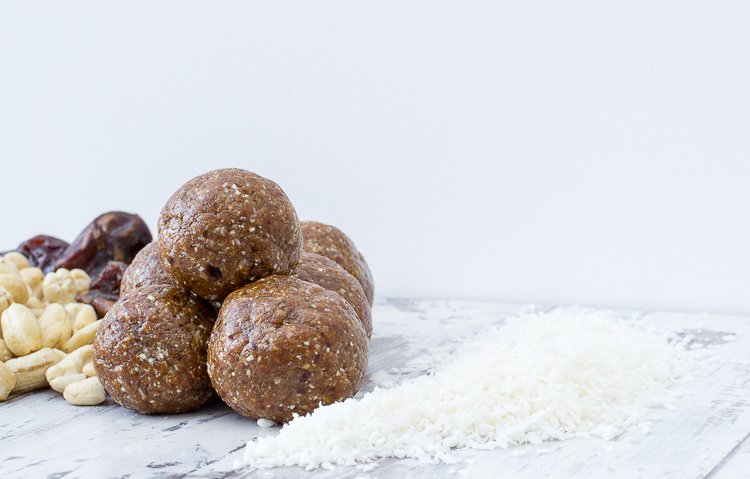 vegan lemon coconut energy balls