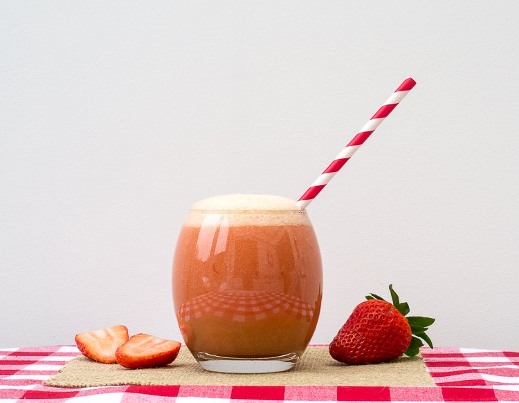 nectarine and strawberry mocktail
