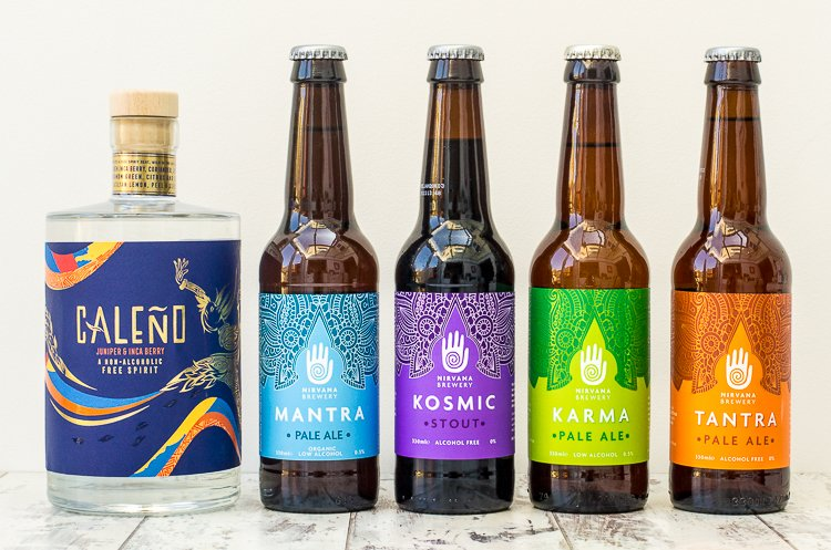 Caleno alcohol free gin and nirvana craft beer