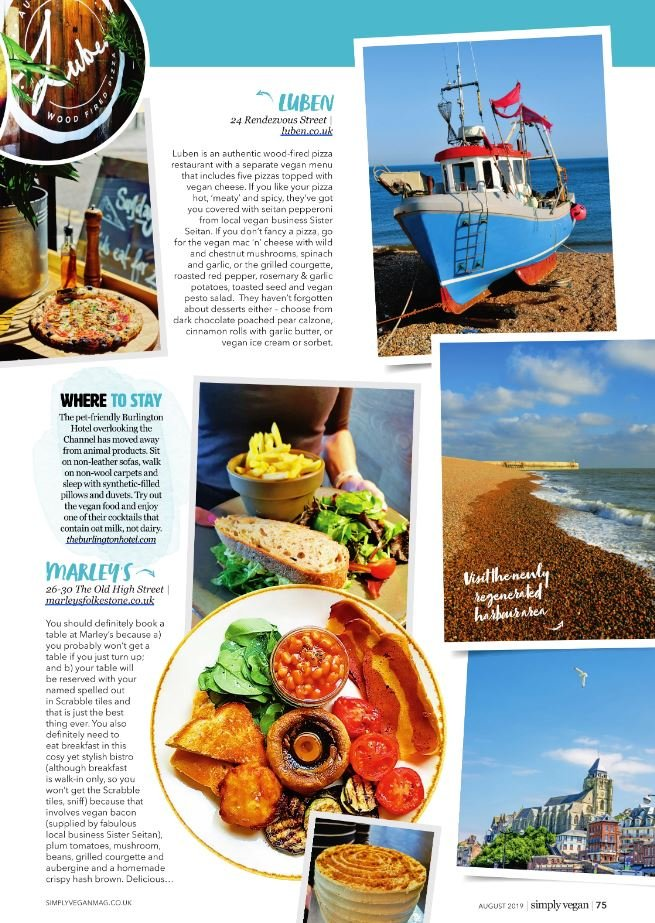 Folkestone in Simply Vegan Magazine