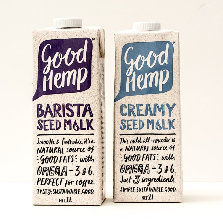 Good Hemp Barista Seed Milk and Good Hemp Creamy Seed Milk